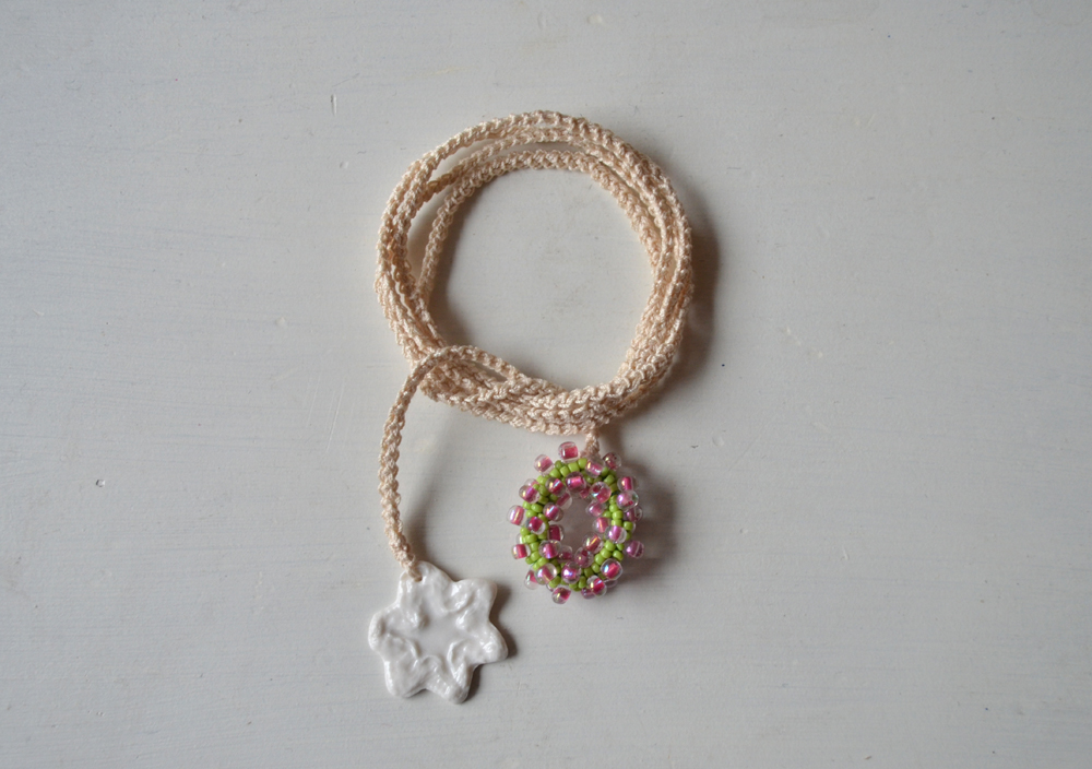 Handmade croched necklace